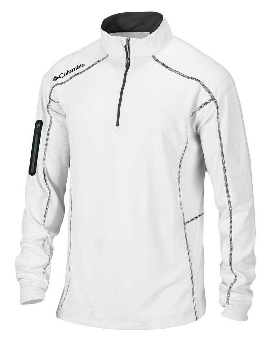 Columbia Golf Omni-Wick Shotgun 1 4 Zip Jacket for Men  White jacket for  golfing in cooler temperatures for style and performance out on the golf  course! 2f1cdabeb95