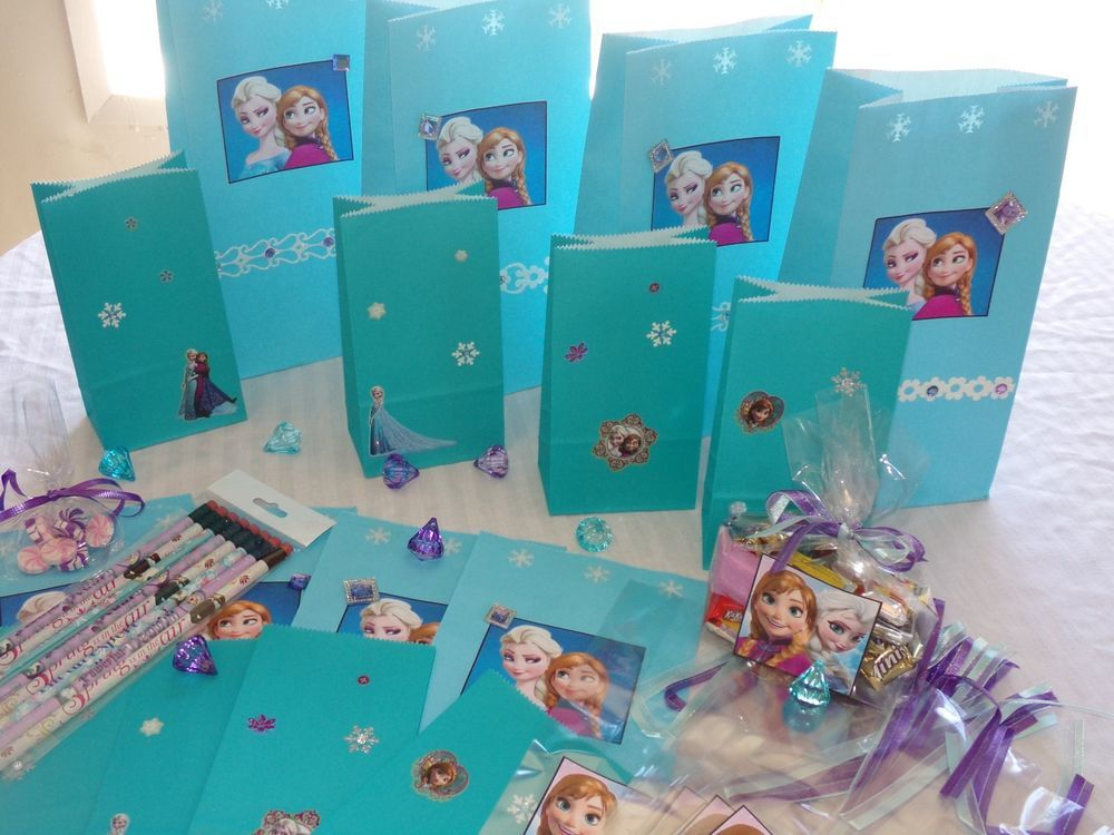 Handmade Disney Frozen Birthday Party Treat Bags For 8 With Mini Pencils Bestoccasions Birthdaychild