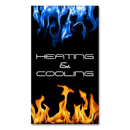 Heating And Air Conditioning Cooling Business Card Zazzle Com