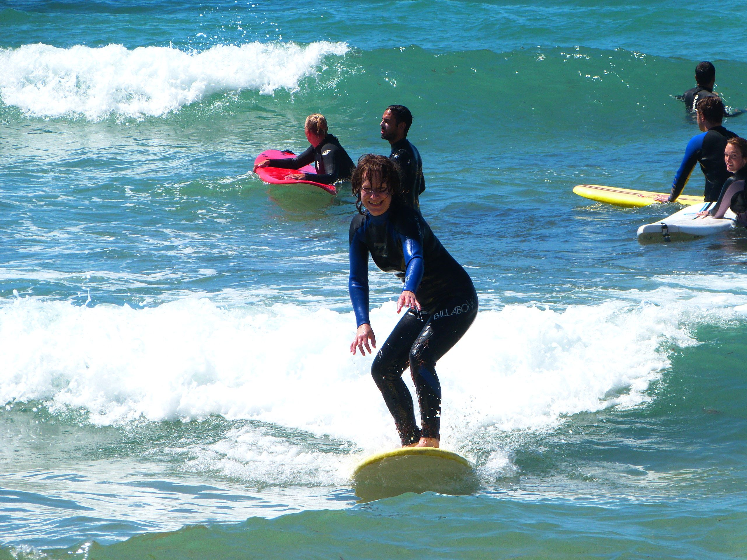 Surfing in Ericeira with @surfyoga <3