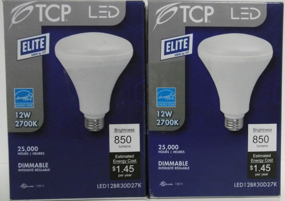 Tcp Led Elite 12br30d27k 2 Pack 12w 2700k Dimmable Flood 850