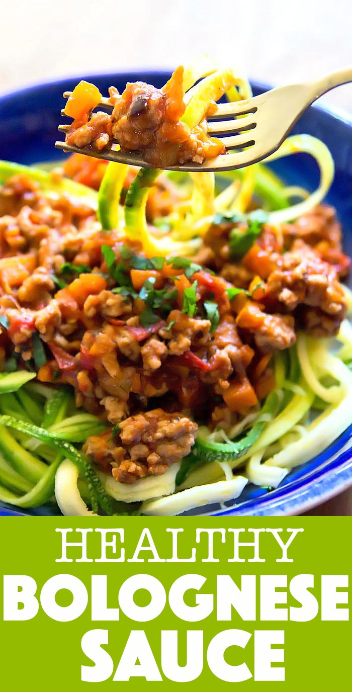 This healthy Bolognese Sauce recipe uses simple ingredients and is perfect to quickly cook up on busy weeknights Pair the sauce with fresh zoodles zucchini noodles for a...