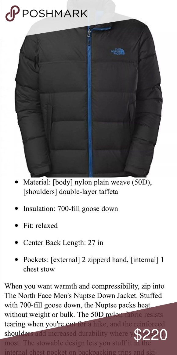 64febc139 Mens The North Face Nuptse Black Down Jacket XXL Brand new with tags ...