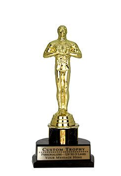 Give Customizable Trophies (Statuettes) and show you care. Use for Hollywood Movies Theme Party or Dinner!
