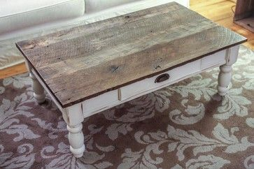 Wood Coffee Table Double X Design