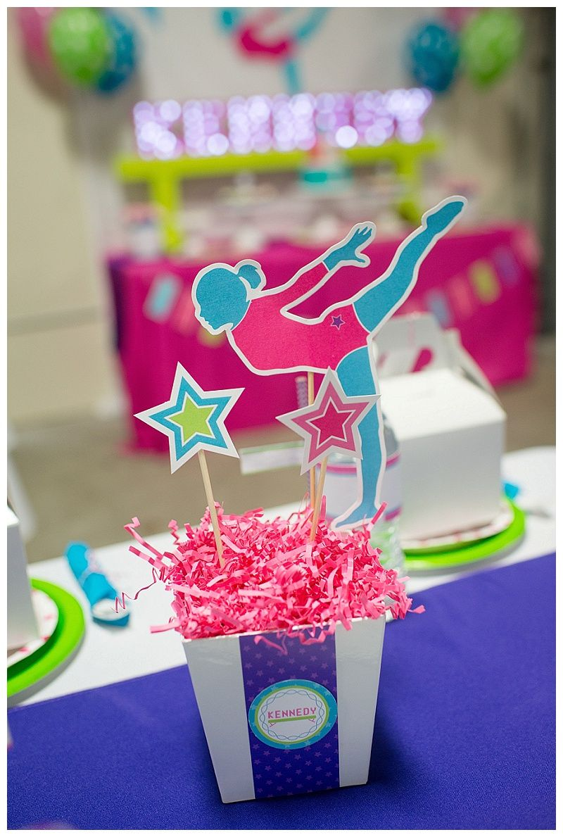 Gymnastics Birthday Party Decorations Gymnastics Birthday Party Theme Printables Gymnastics Birthdays