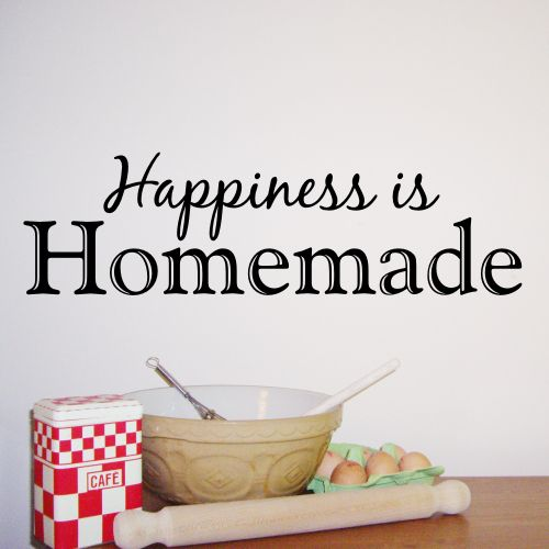 Happiness Is Homemade   Kitchen Wall Sticker   WA287X