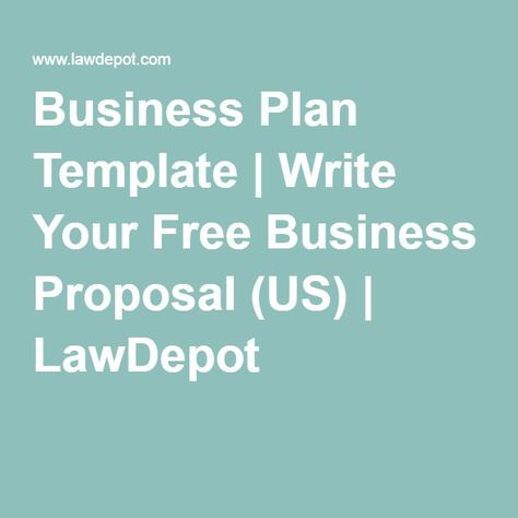 Business Plan Template Write Your Free Business Proposal (US - free sample business proposals