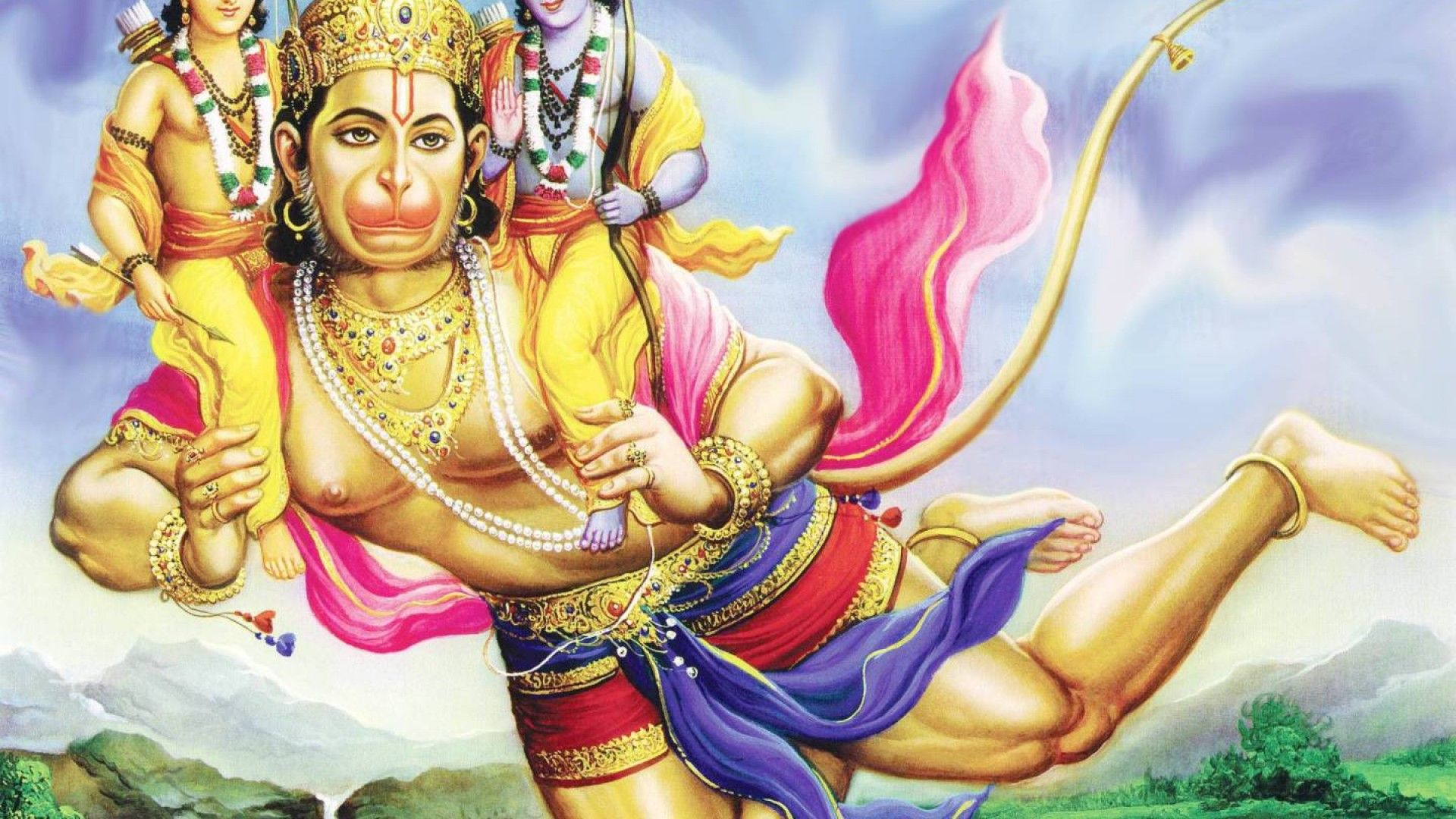 god hanuman hd wallpaper 1920x1080