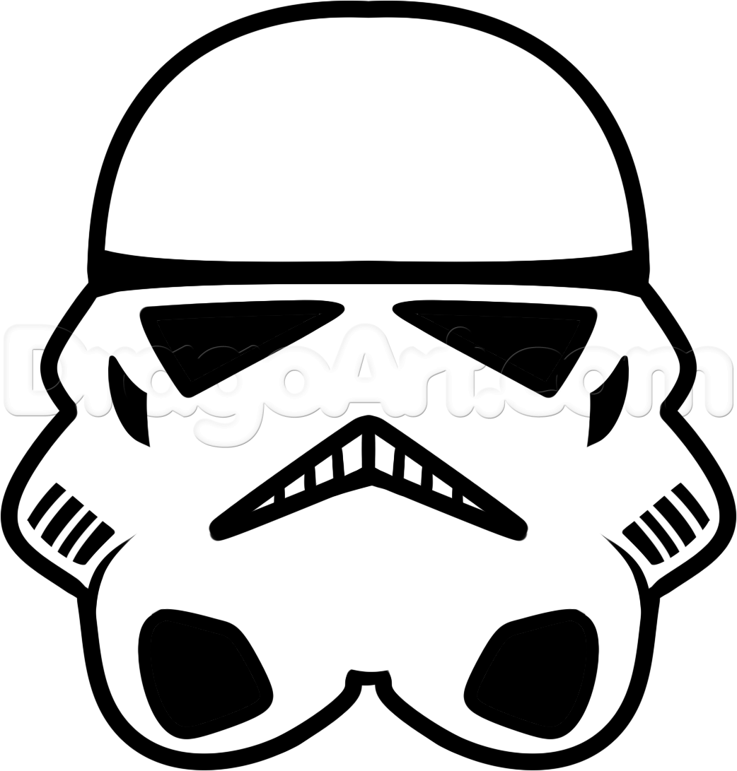 How To Draw A Stormtrooper Easy Step By Step Star Wars