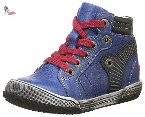 GBB Mano, Sneakers Basses Garçon, Bleu (12 VTE Marine/Blanc Dpf/2706), 24 EU