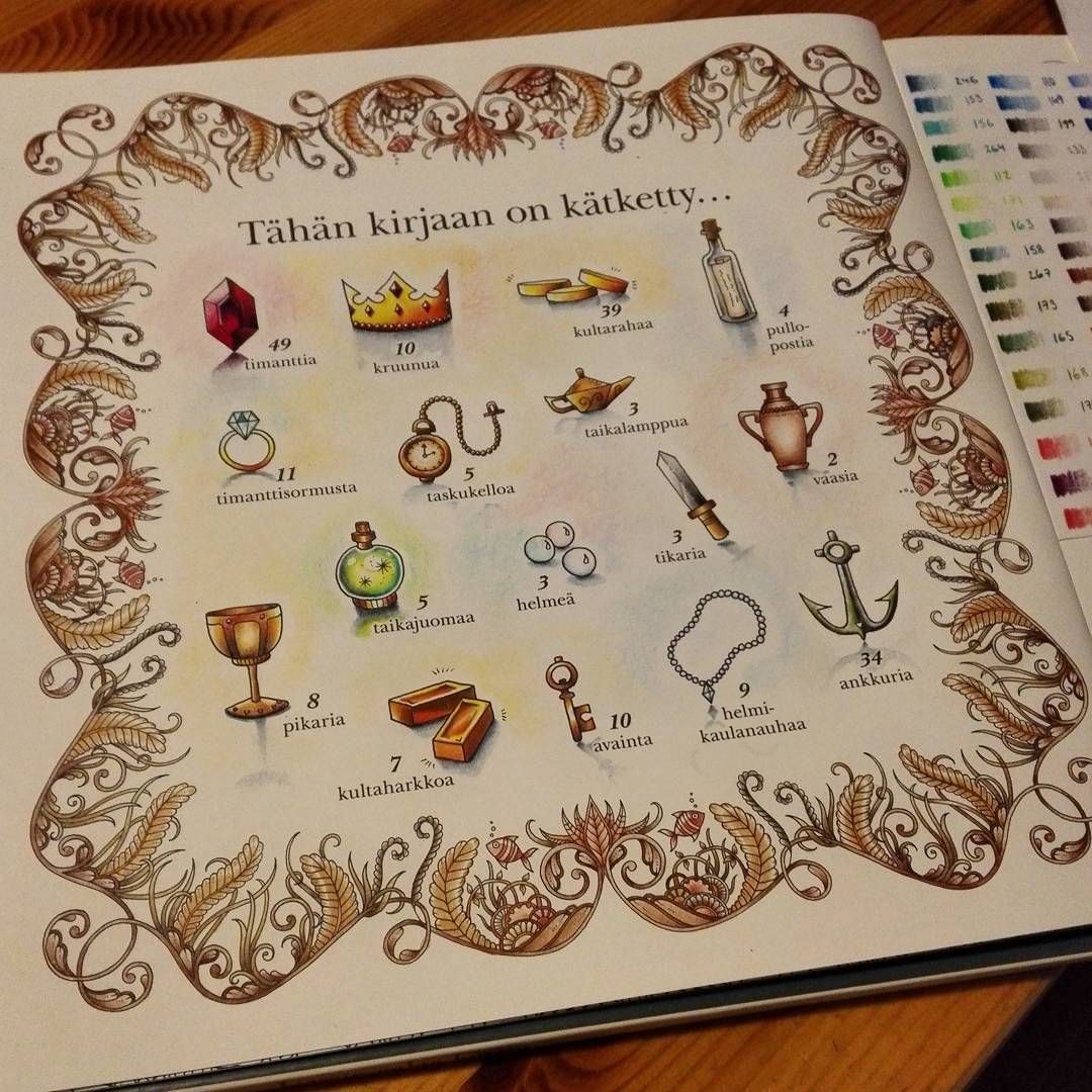Perdido Johanna Basford Colouring Lost Ocean Basfords Coloring Book Colored By Kelsey Everett