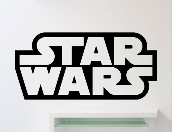 Star wars logo wall decal word superhero movies vinyl sticker home room interior decoration waterpro also rh pinterest
