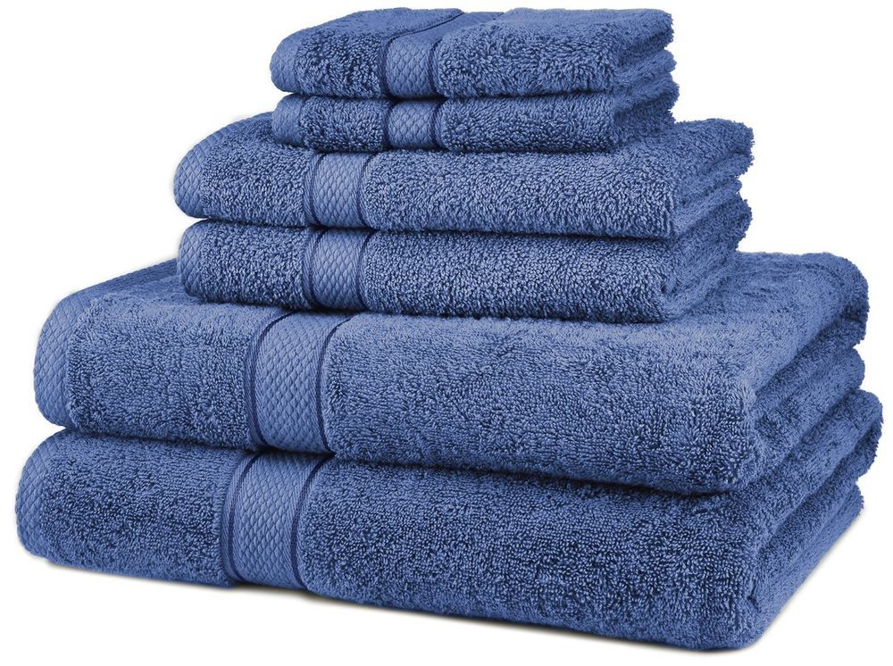 Egyptian Cotton 6pc Towel Set Bath Room Hand Soft Wash Cloth
