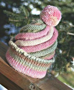 Photo of Swirled Ski Cap Free Knitting Pattern Video Instructions