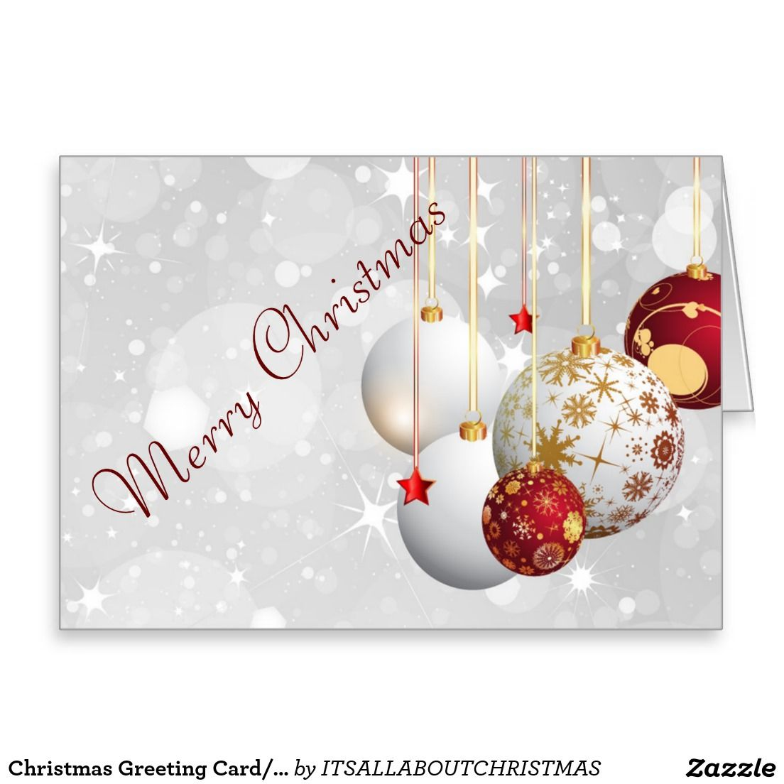 Christmas Greeting Card/Ornaments Holiday Card | Zazzle Products ...