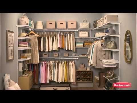 Rubbermaid HomeFree Series™ Closet Kits   YouTube