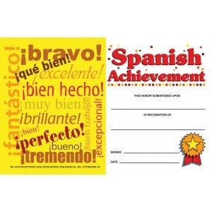 Good work award mini certificate 25pack certificates and spanish achievement mini certificate 25pack yadclub Images