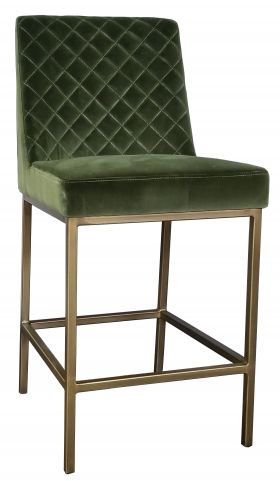 Bar Stools Kitchen Counter Stools Green Velvet Counter Stool With Bronze Gold Steel Frame R 137 Counter Stools Green Bar Stools Wayfair Living Room Chairs