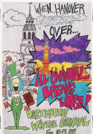 Dartmouth Winter Carnival Original Poster 1994 in 2020