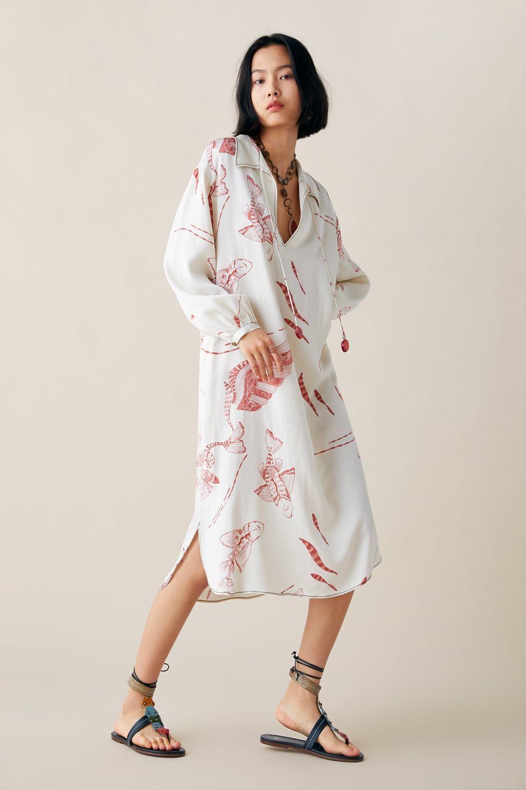 zara studio vestido estampado ediciÓn limitada | bedruckte