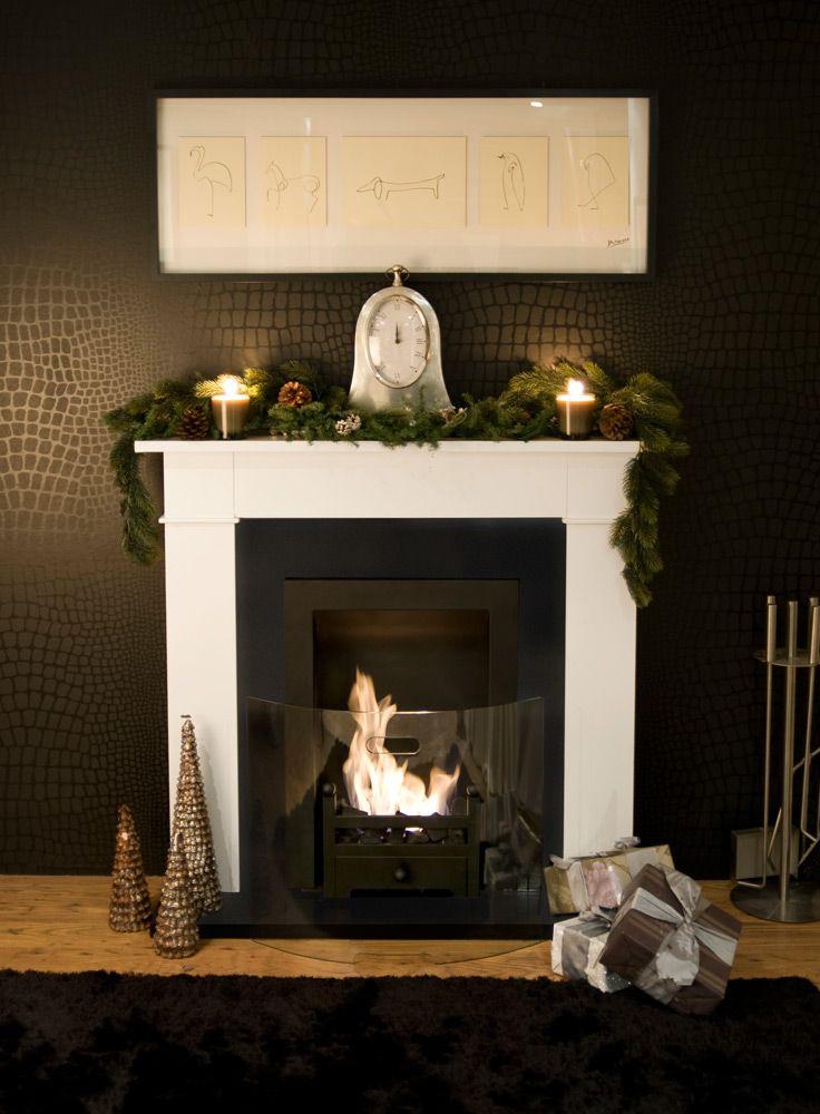 Carrington Cream Traditional Bio Ethanol Fireplace Home Looks