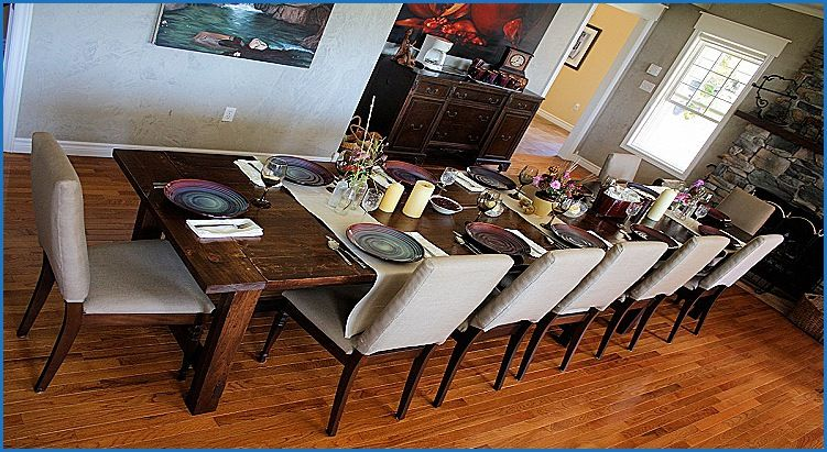 unique 12 seater wooden dining table  dining table