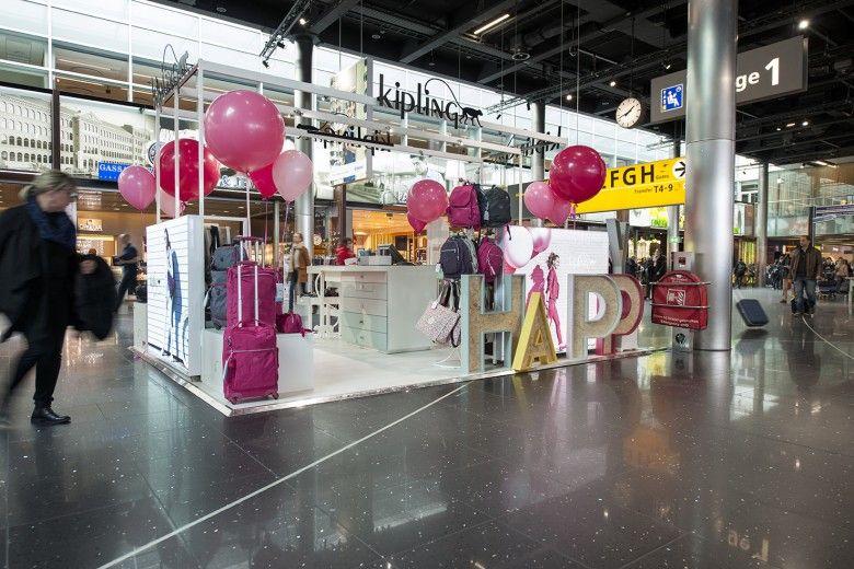 b2ba7504a Kipling Pop Up Store at Schiphol Airport | Popup kiosks | Pop up ...