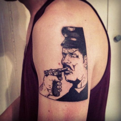 acab tattoo blackstabbath raymond pettibon police story