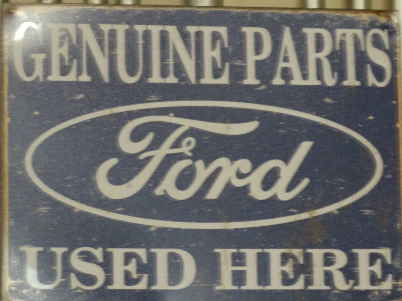 Vintage Ford parts sign at Crevier Classic Cars | Garage | Pinterest ...