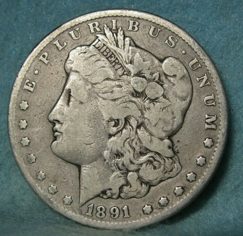 1891 Cc Carson City Mint Morgan Silver Dollar United States Coin Coins Morgan Silver Dollar Silver Dollar