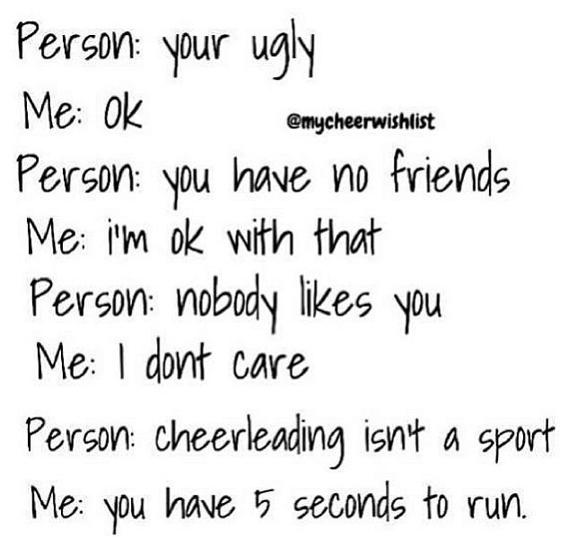 Pin by Emily Horlocker on Cheerleading | Funny cheer quotes ...