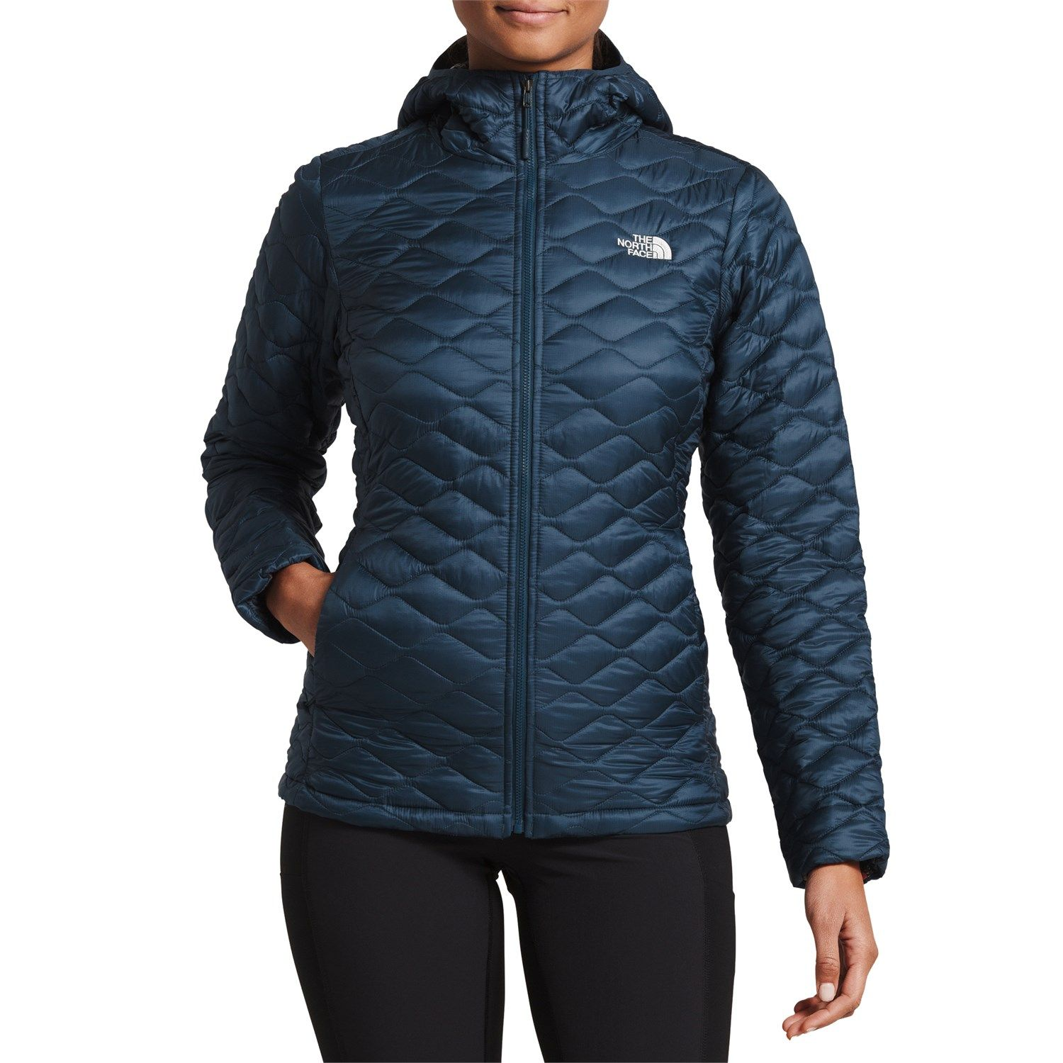 Women S The North Face Thermoball Jacket In Blue Size X Small North Face Thermoball Jacket Womens Quilted Jacket Hoodies Womens [ 1500 x 1500 Pixel ]