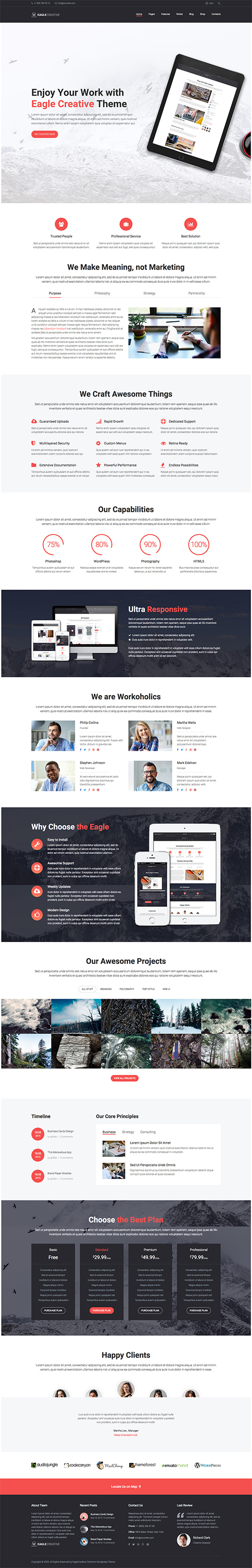 Eagle - Creative Business WordPress Theme
