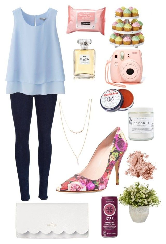 """""""Simplicity"""" by elisabethmw ❤ liked on Polyvore featuring rag & bone, Uniqlo, Forever 21, Kate Spade, Nearly Natural, Rosebud Perfume Co., Wilton, Chanel, Neutrogena and Bobbi Brown Cosmetics"""