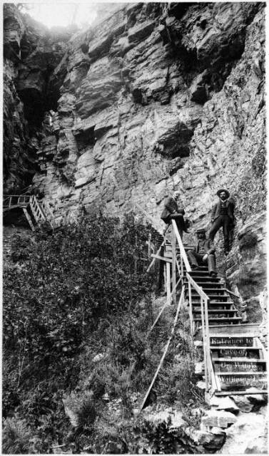 Cave of the Winds first entrance, 1888 - SpringsMagazine.com