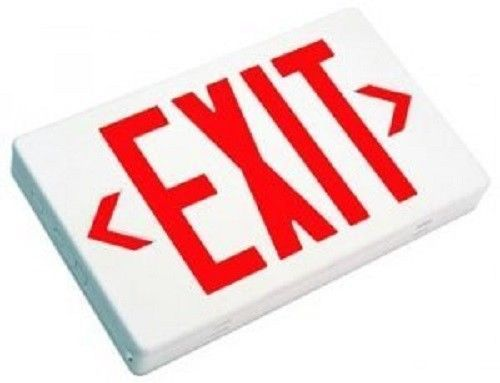Dysmio Lighting Led Exit Sign With Battery Backup Red Letters Dysmiolighting With Images Exit Sign Emergency Exit Signs