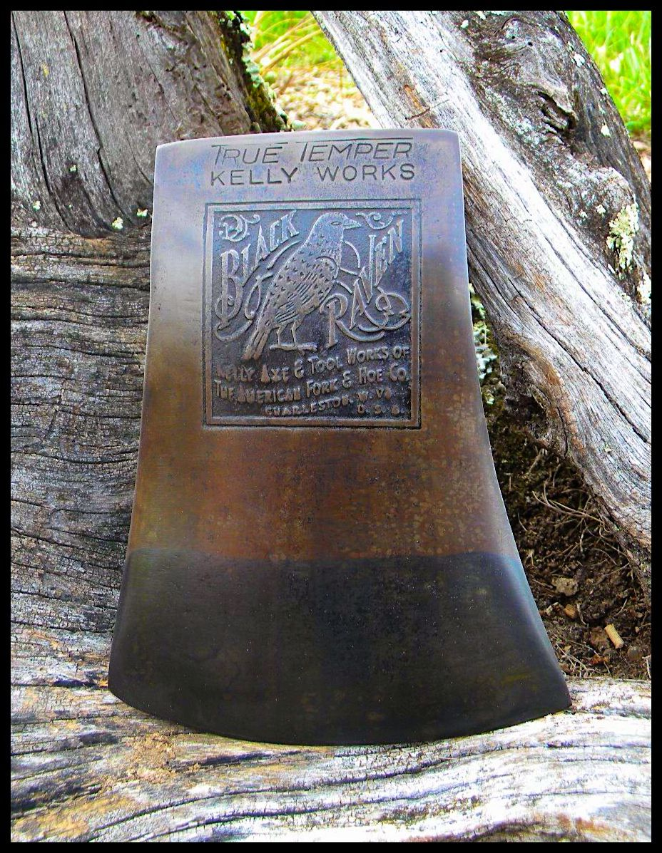"""Black Raven"" Kelly Axe & Tool Works of The American Fork & Hoe Co. Charleston. W.VA. U.S.A"