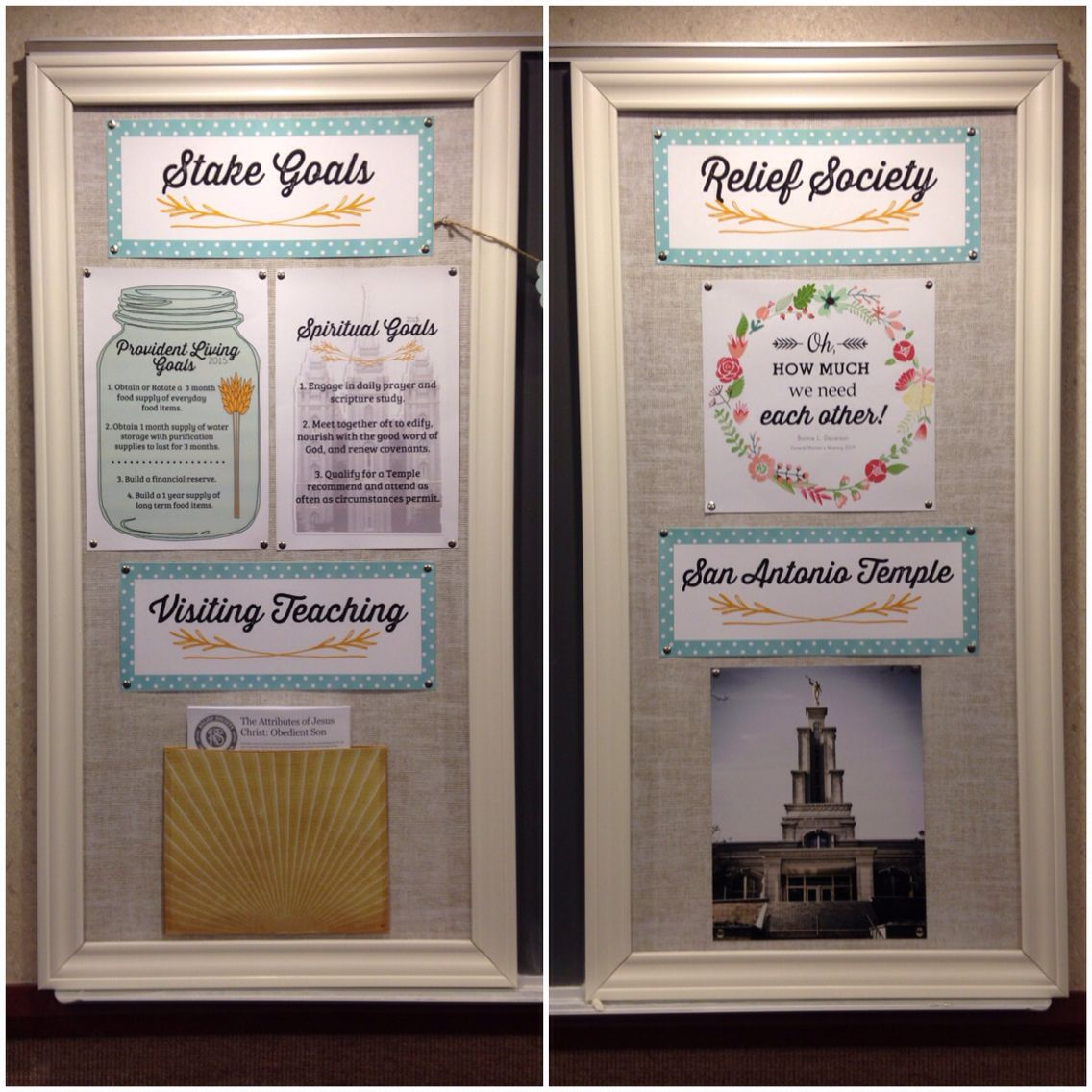 Relief Society Lesson November 2019 Ideas For Missionary Work Relief Society bulletin board makeover. | Relief Society | Relief