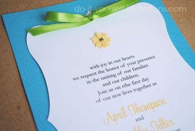 Diy handmade layered daisy wedding invitations diy wedding diy handmade layered daisy wedding invitations solutioingenieria Images