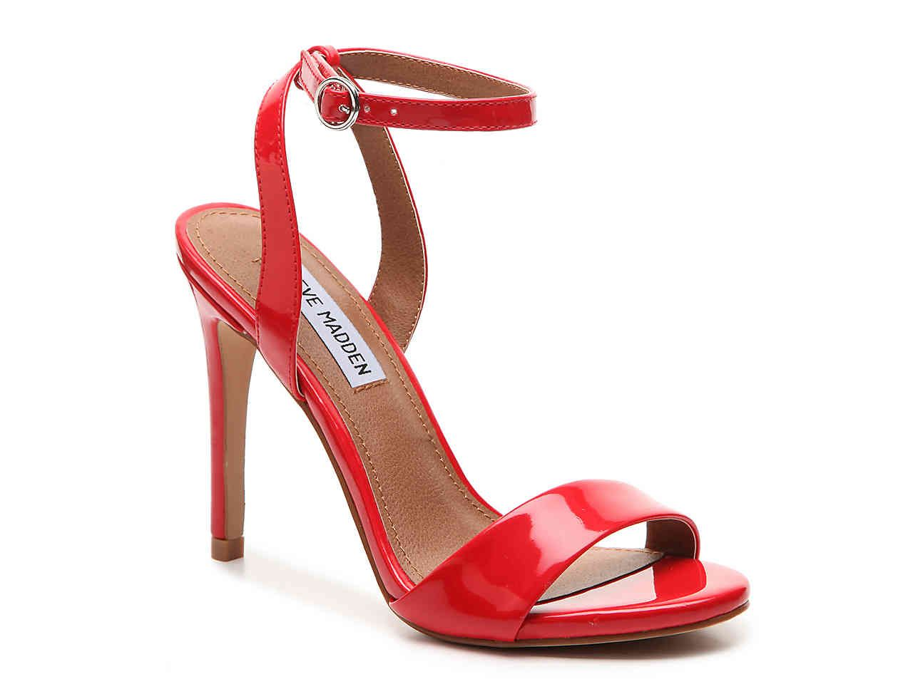 9ba9ee96a9052a  60 Red Patent Leather Steve Madden Reno Sandal DSW