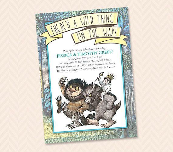 wild thing invitation design - baby shower, wedding shower or,