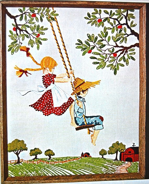 Jan Hagara Cross Stitch Patterns: Vintage Country Cousins Farm Embroidery Kit By