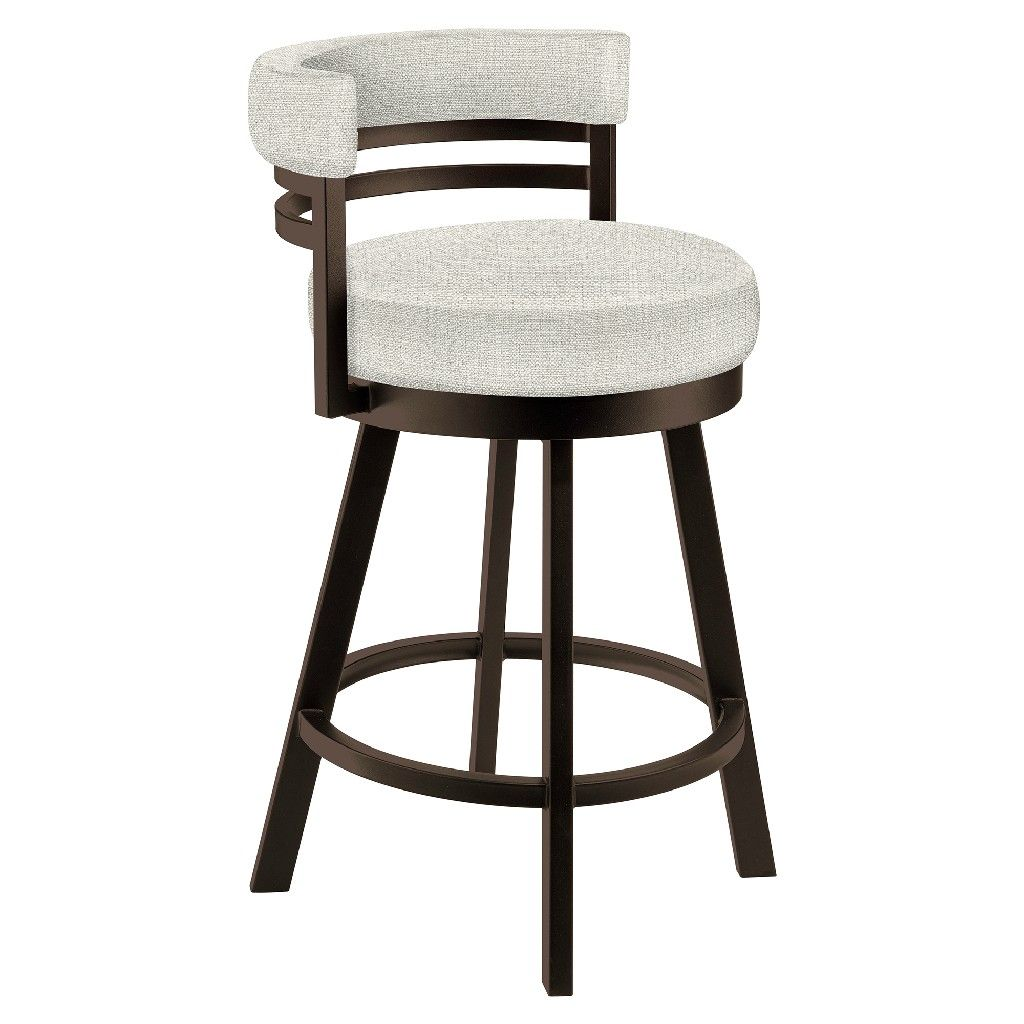 Firenze 30 Bar Height Metal Swivel Barstool In Cream Sugarshack 85 Performance Fabric Capuccino Finish Made In In 2021 Bar Stools Counter Stools Swivel Bar Stools