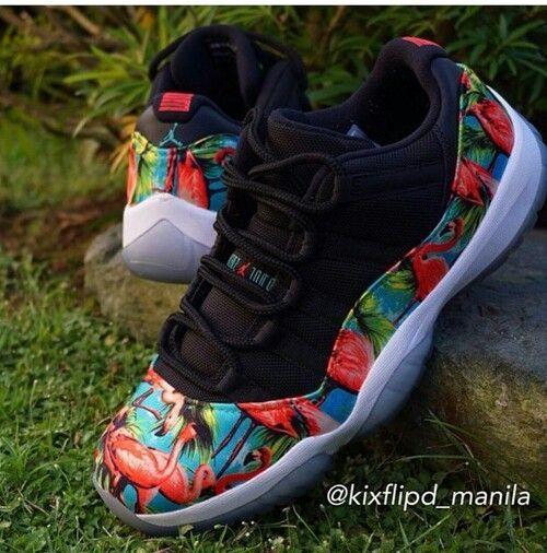 hot sale online bdb3c b9f36 ... retro Custom flamingo 11s custom cheetah Jordan shoes 13 for men nike  kicks cheap sale ...
