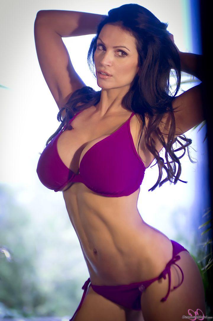 Denise milani purple bikini