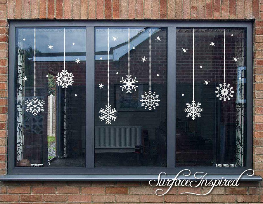 Schneeflocke Weihnachten Fenster Wand aufkleber, Weihnachts-Dekor, Aufkleber, Aufkleber, Weihnachts-Aufkleber, Schneeflocken