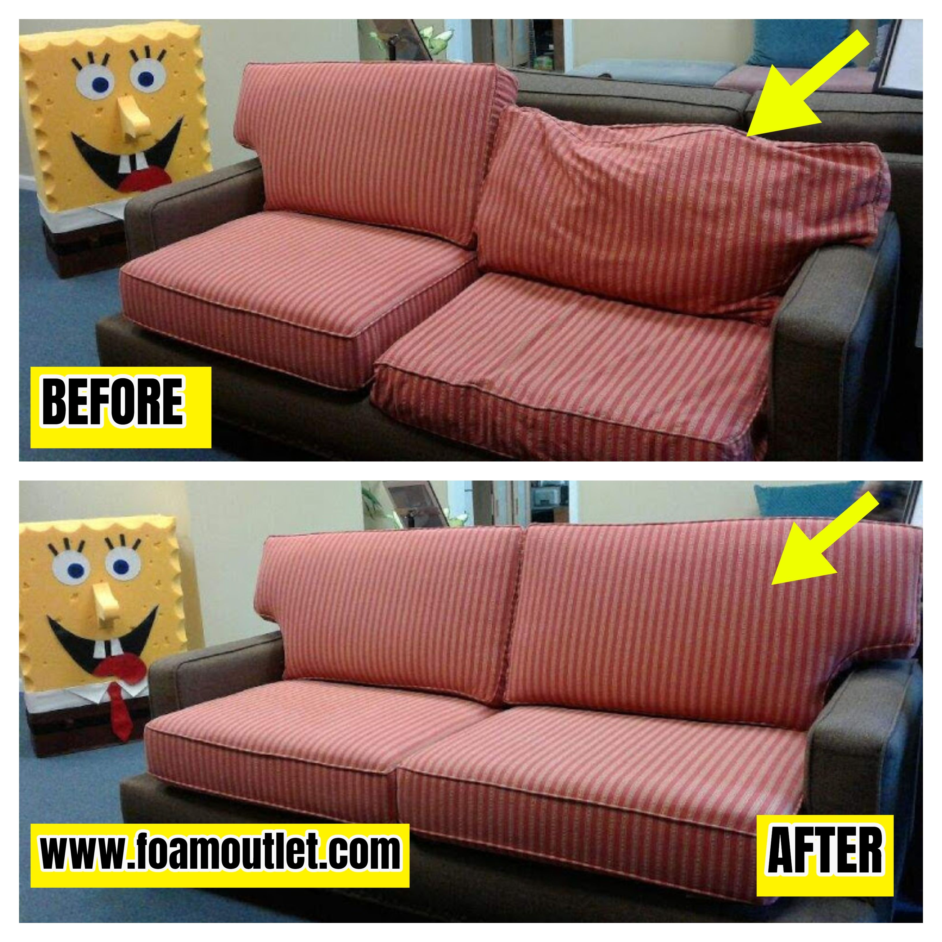 Love Seat Rescue Our High Density Foam Replacementcushions Brought A Sagging Unsupportive Couch Back T In 2020 Cushions On Sofa Couch Cushions Couch Cushion Foam