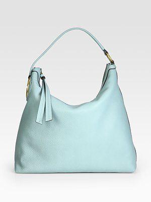 Gucci - Twill Leather Hobo - Saks.com