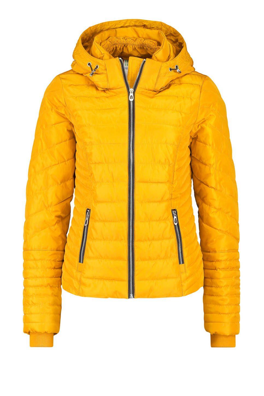 gewatteerde winterjas geel | Jas, Winterjas, Dameskleding